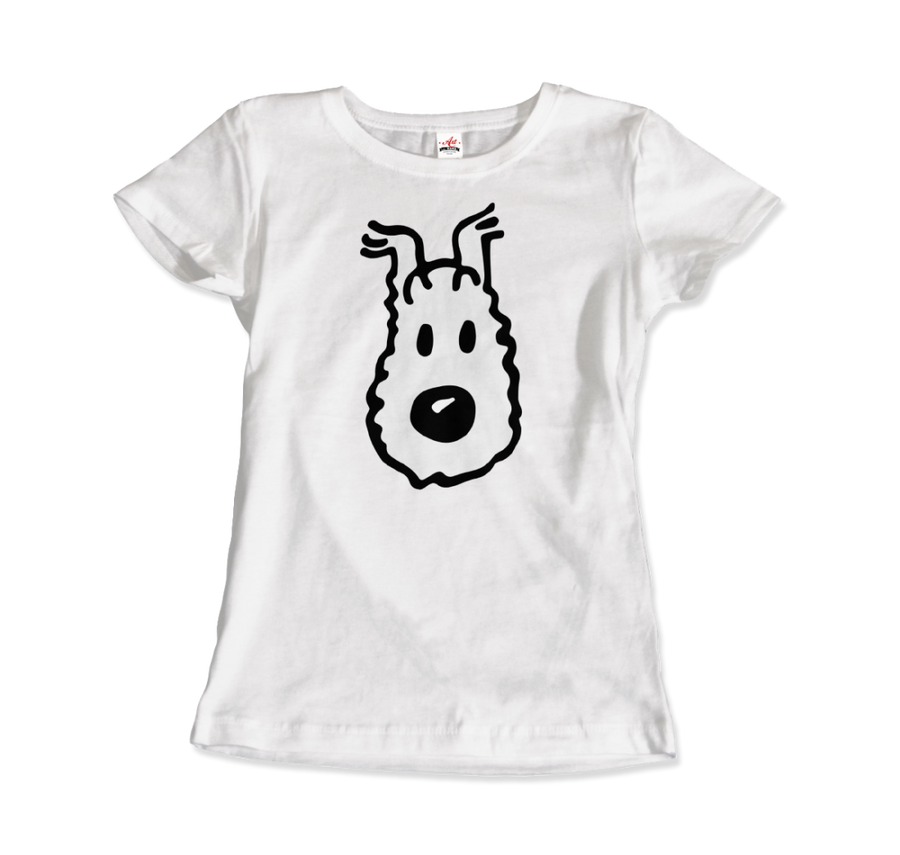 Snowy (Milou) Wire Fox Terrier from Tintin T-Shirt - Women / White / Small - T-Shirt