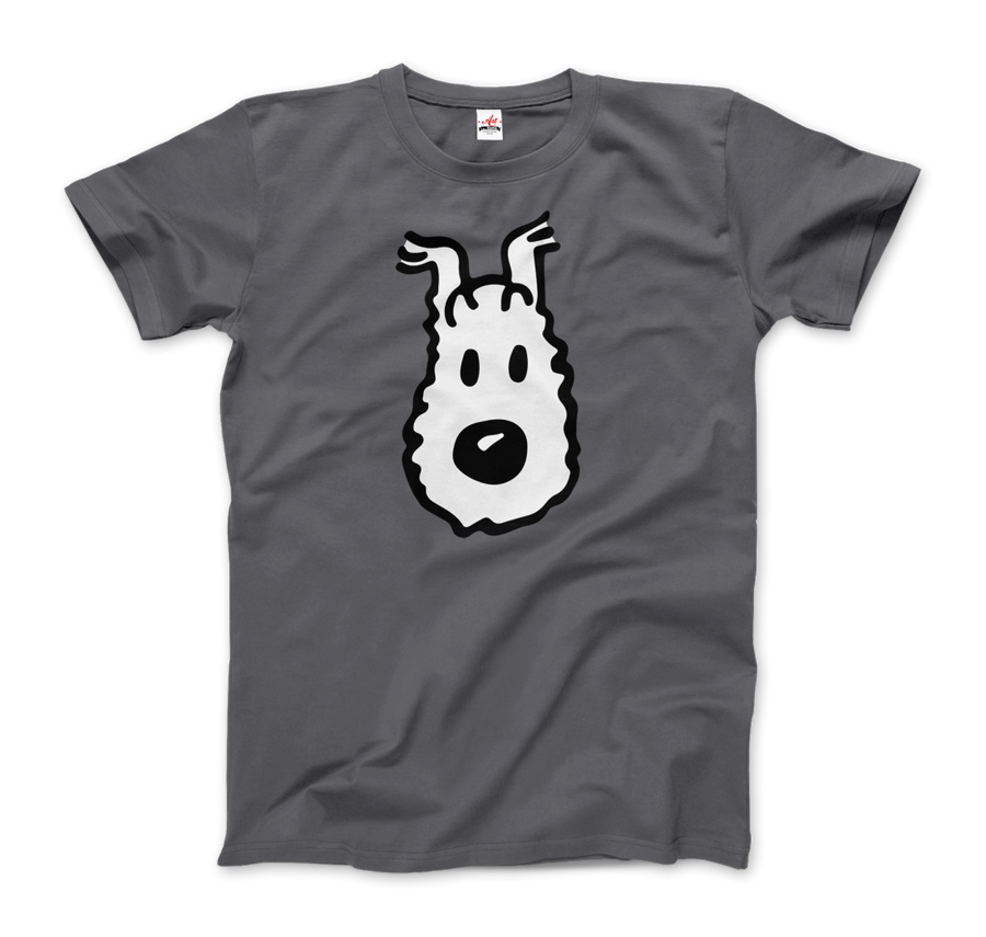 Snowy (Milou) Wire Fox Terrier from Tintin T-Shirt - Men / Charcoal / Small - T-Shirt