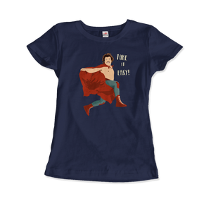 Take It Easy, Nacho Libre, El Luchador Mascarado T-Shirt - Women / Navy / Small by Art-O-Rama