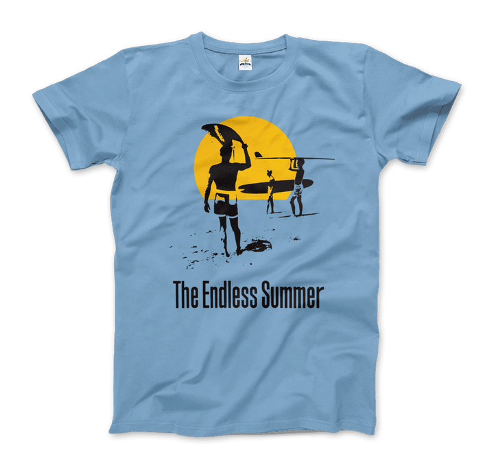 The Endless Summer 1966 Surf Documentary Artwork T-Shirt - Men / Light Blue / Small by Art-O-Rama