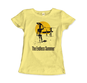 The Endless Summer 1966 Surf Documentary T-Shirt - Women / Spring Yellow / Small by Art-O-Rama
