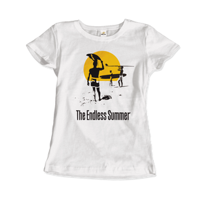 The Endless Summer 1966 Surf Documentary Artwork T-Shirt - Women / White / Small by Art-O-Rama