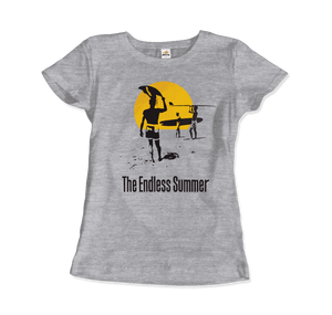 The Endless Summer 1966 Surf Documentary Artwork T-Shirt - Women / Heather Grey / Small by Art-O-Rama
