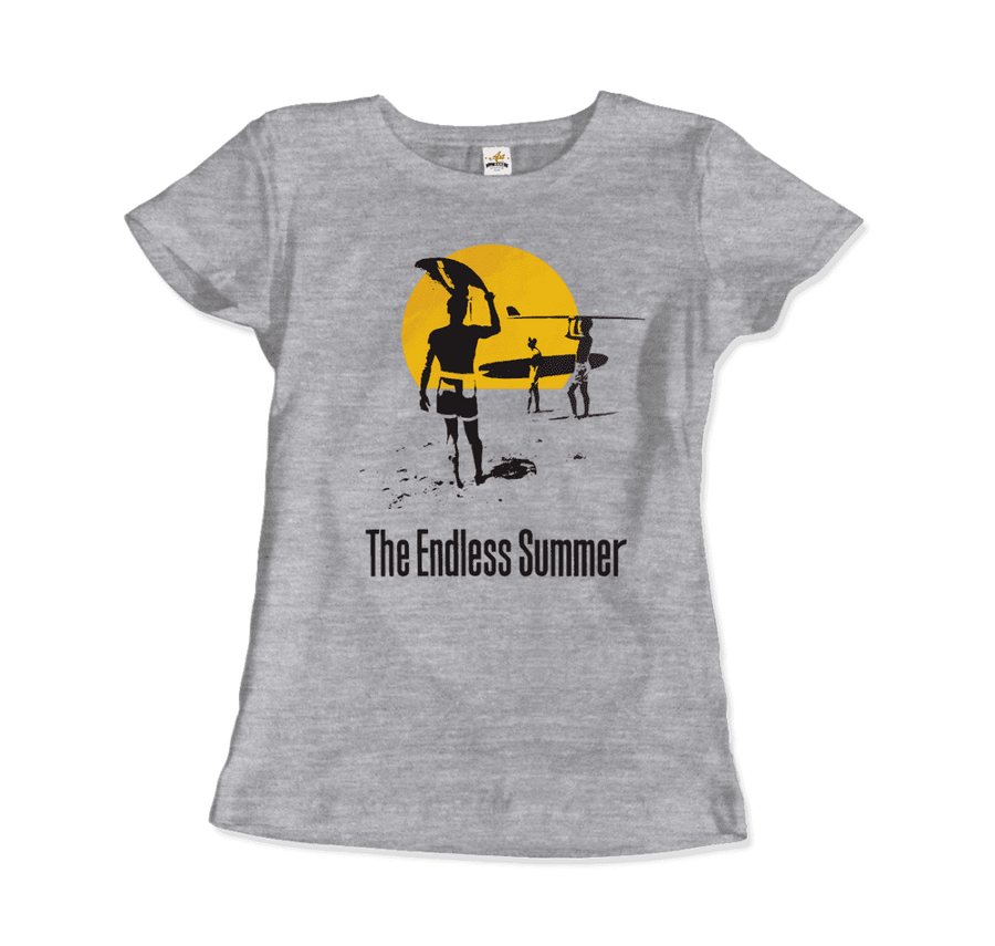 The Endless Summer 1966 Surf Documentary T-Shirt - Women / Heather Grey / Small by Art-O-Rama