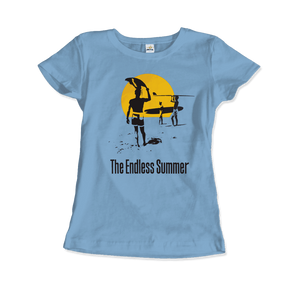 The Endless Summer 1966 Surf Documentary T-Shirt - Women / Light Blue / Small by Art-O-Rama