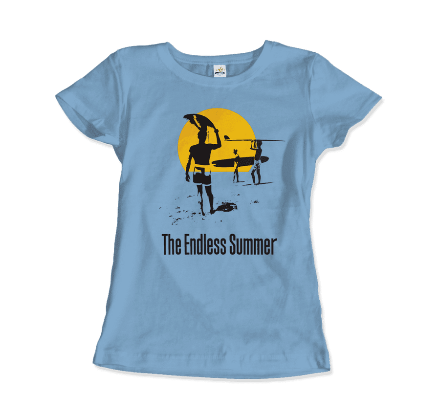 The Endless Summer 1966 Surf Documentary Artwork T-Shirt - Women / Light Blue / Small by Art-O-Rama