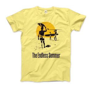 The Endless Summer 1966 Surf Documentary Artwork T-Shirt - Men / Spring Yellow / Small by Art-O-Rama