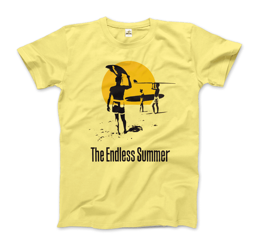 The Endless Summer 1966 Surf Documentary T-Shirt - Men / Spring Yellow / Small by Art-O-Rama