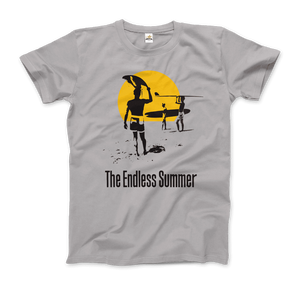 The Endless Summer 1966 Surf Documentary Artwork T-Shirt - Men / Silver / Small by Art-O-Rama