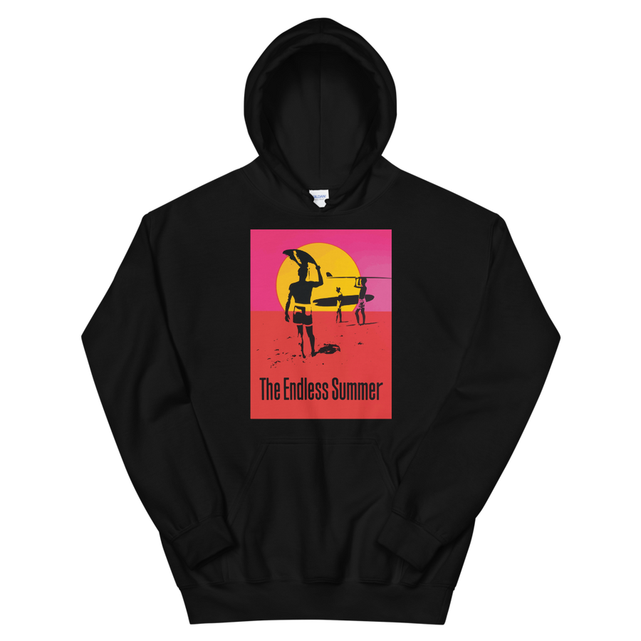 The Endless Summer 1966 Surf Documentary Unisex Hoodie - Black / S by Art-O-Rama