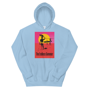 The Endless Summer 1966 Surf Documentary Poster Unisex Hoodie - Light Blue / S by Art-O-Rama