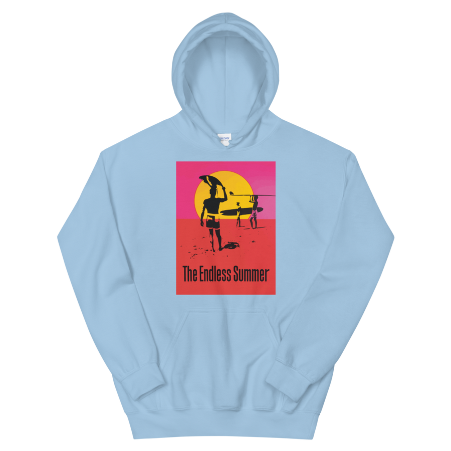 The Endless Summer 1966 Surf Documentary Unisex Hoodie - Light Blue / S by Art-O-Rama