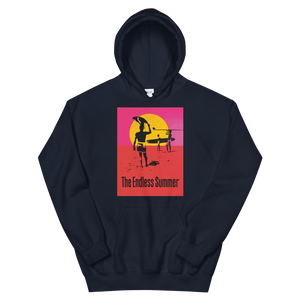 The Endless Summer 1966 Surf Documentary Poster Unisex Hoodie - Navy / S by Art-O-Rama
