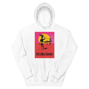The Endless Summer 1966 Surf Documentary Unisex Hoodie - White / S by Art-O-Rama