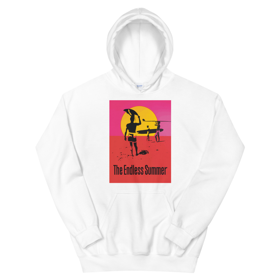 The Endless Summer 1966 Surf Documentary Poster Unisex Hoodie - White / S by Art-O-Rama