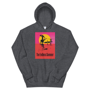 The Endless Summer 1966 Surf Documentary Unisex Hoodie - Dark Heather / S by Art-O-Rama