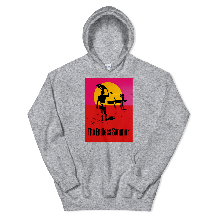 The Endless Summer 1966 Surf Documentary Poster Unisex Hoodie - Sport Grey / S by Art-O-Rama