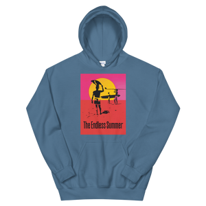 The Endless Summer 1966 Surf Documentary Poster Unisex Hoodie - Indigo Blue / S by Art-O-Rama