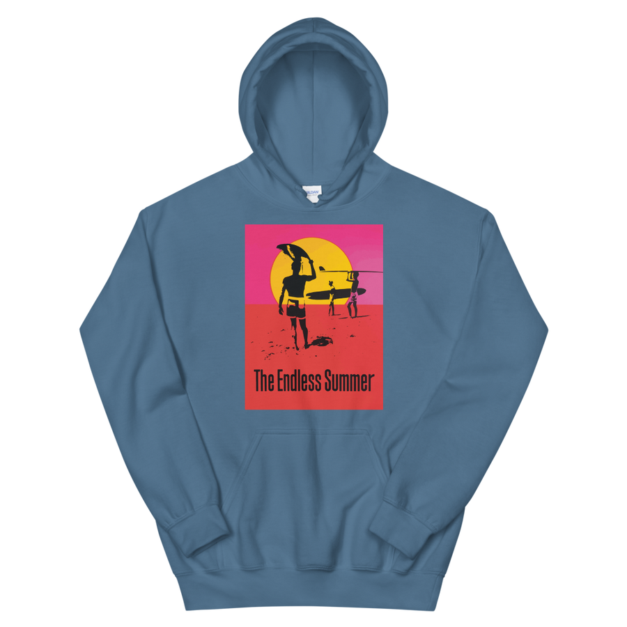 The Endless Summer 1966 Surf Documentary Unisex Hoodie - Indigo Blue / S by Art-O-Rama