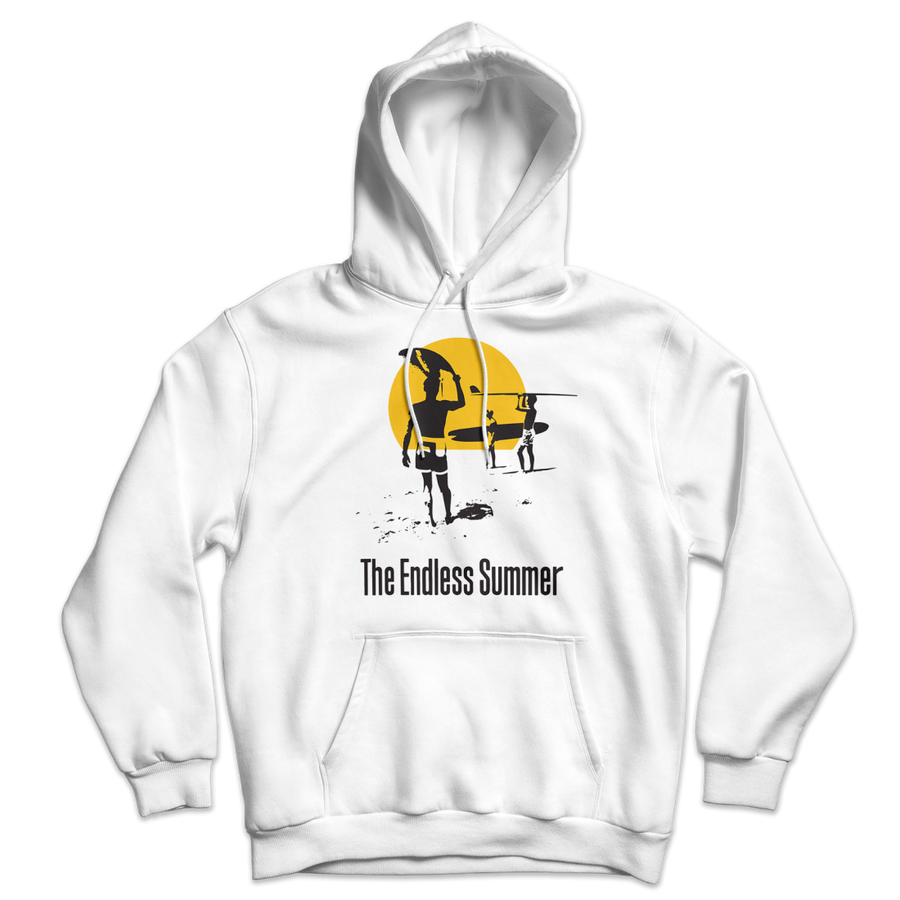 The Endless Summer 1966 Surf Documentary Unisex Hoodie - White / S - Hoodie