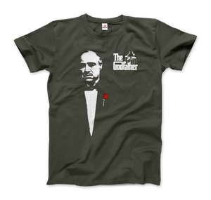 The Godfather 1972 Movie Don Corleone T-Shirt - Men / City Green / Small by Art-O-Rama