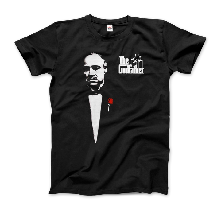The Godfather 1972 Movie Don Corleone Artwork T-Shirt - Men / Black / Small by Art-O-Rama