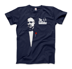 The Godfather 1972 Movie Don Corleone T-Shirt - Men / Navy / Small by Art-O-Rama