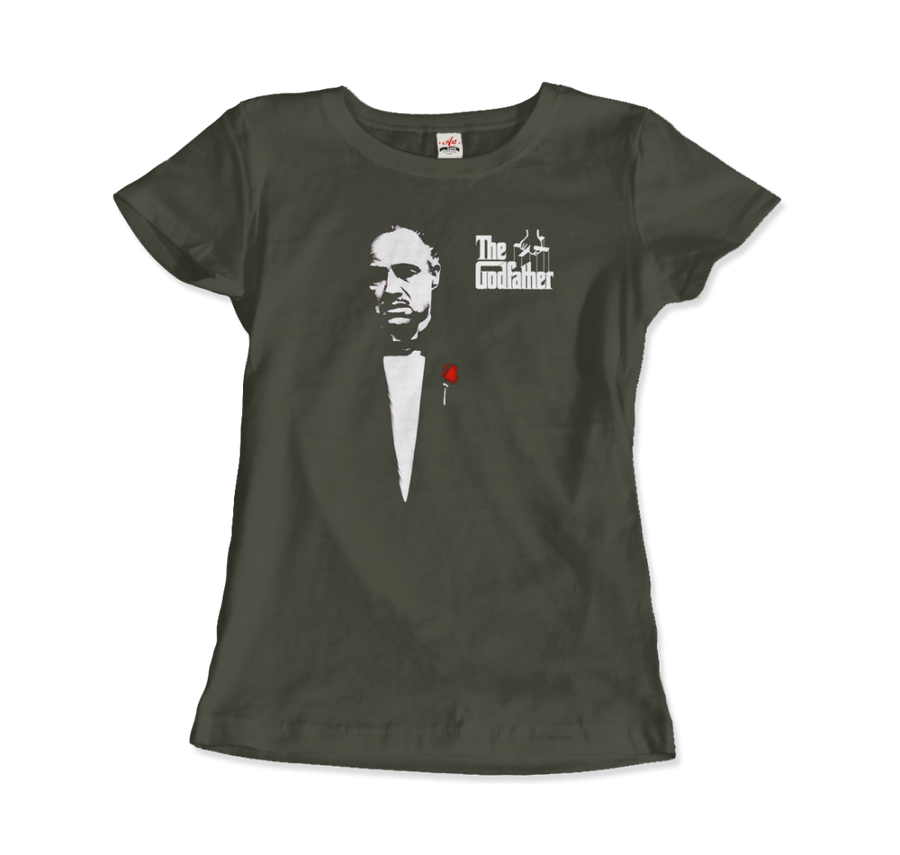 The Godfather 1972 Movie Don Corleone T-Shirt - Women / City Green / Small by Art-O-Rama