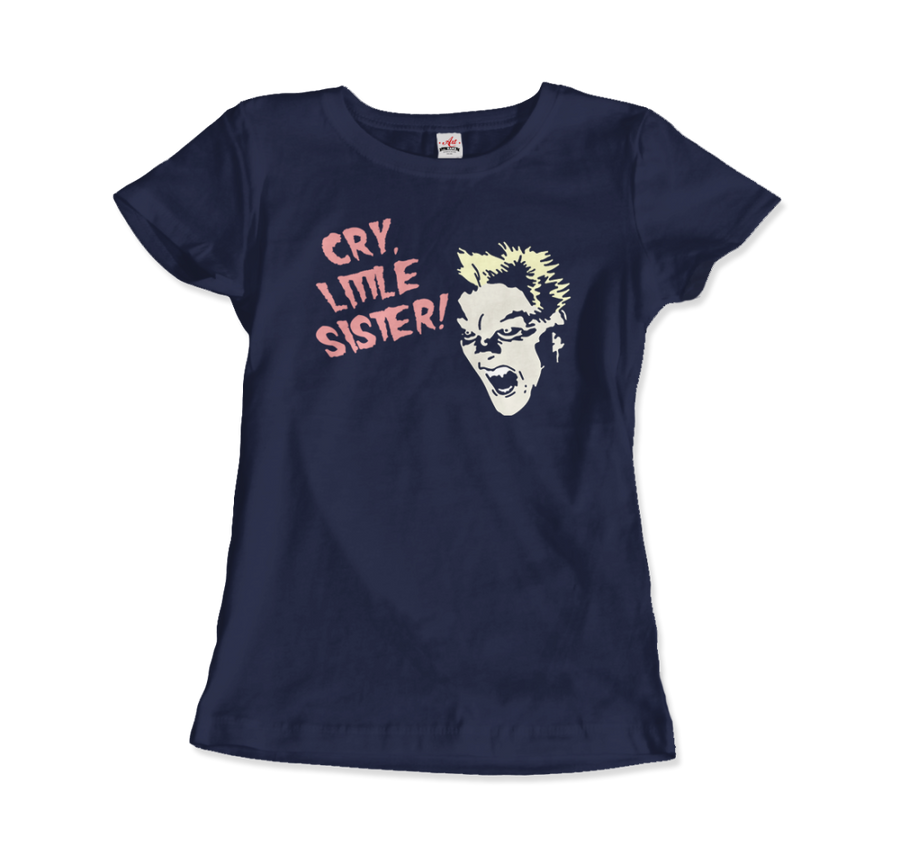 The Lost Boys - David - Cry Little Sister T-Shirt - Women / Navy / Small - T-Shirt