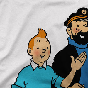 Tintin, Snowy and Captain Haddock Artwork T-Shirt - [variant_title] by Art-O-Rama