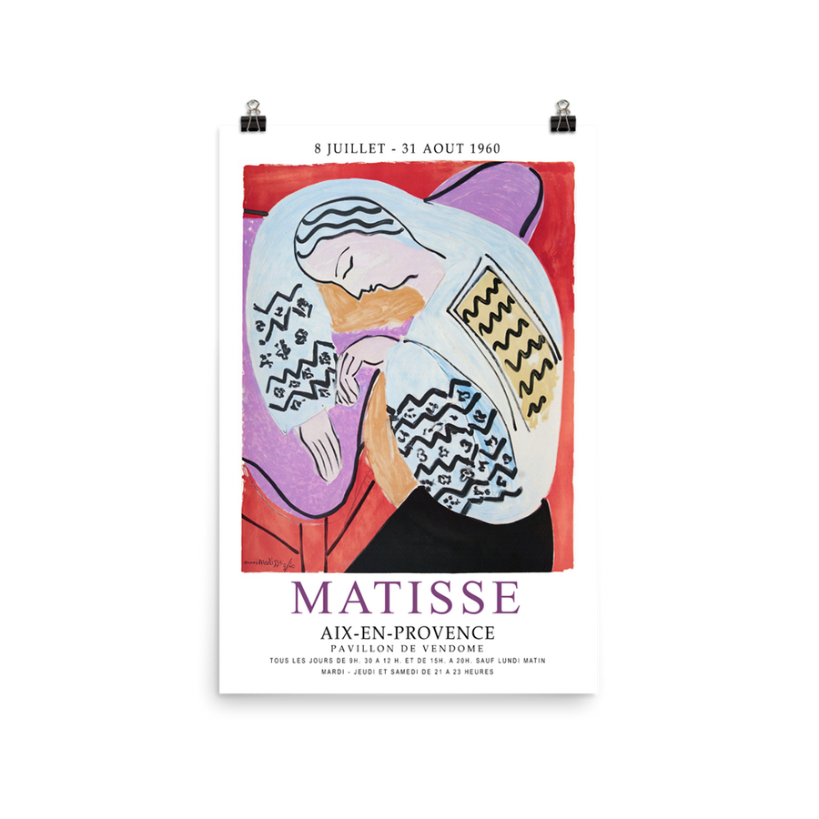 "Henri Matisse The Dream - Aix-En-Provence Exhibition Poster - Matte / 16"" (W) x 24"" (H) by Art-O-Rama"