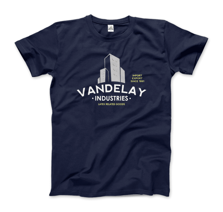 Vandelay Industries Import Export Latex, Costanza T-Shirt - Men / Navy / Small by Art-O-Rama