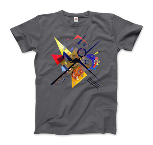Wassily Kandinsky On White II (Auf Weiss) 1923, Artwork T-Shirt - Men / Charcoal / Small by Art-O-Rama