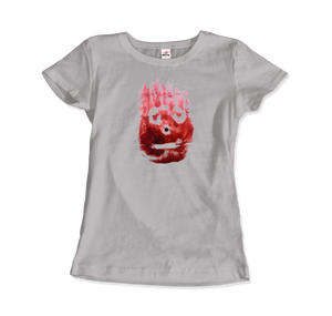 Wilson the Volleyball, from Cast Away Movie T-Shirt - Women / Silver / Small by Art-O-Rama