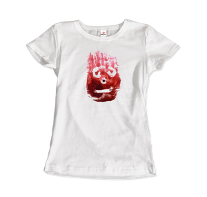 Wilson the Volleyball, from Cast Away Movie T-Shirt - Women / White / Small by Art-O-Rama
