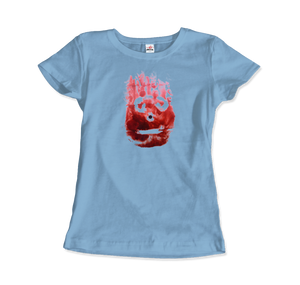 Wilson the Volleyball, from Cast Away Movie T-Shirt - Women / Light Blue / Small by Art-O-Rama