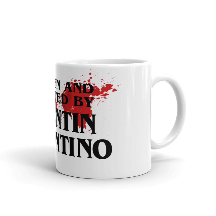 Written and Directed by Quentin Tarantino (Bloodstained) Mug - 11oz (325mL) - Mug