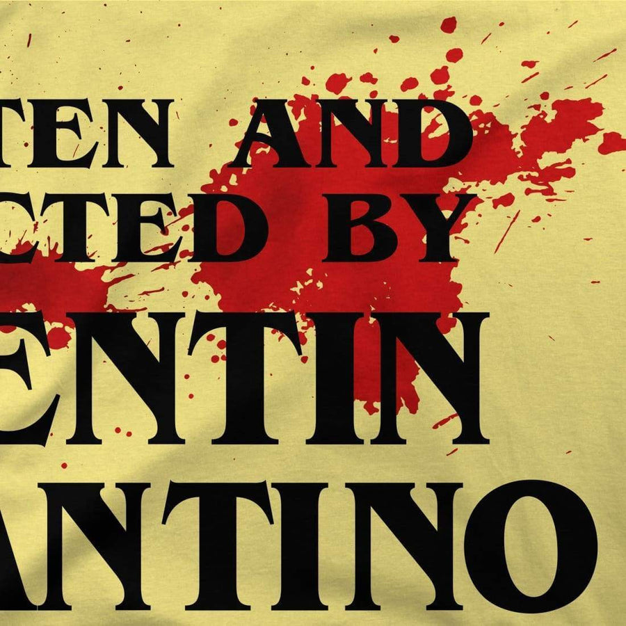 Written and Directed by Quentin Tarantino (with Blood) Artwork T-Shirt - [variant_title] by Art-O-Rama