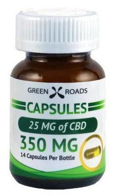 GreenRoad 350mg Capsules 14 capsules per bottle - ESWSupply