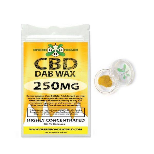 GreenRoads Dab Wax 250mg - ESWSupply