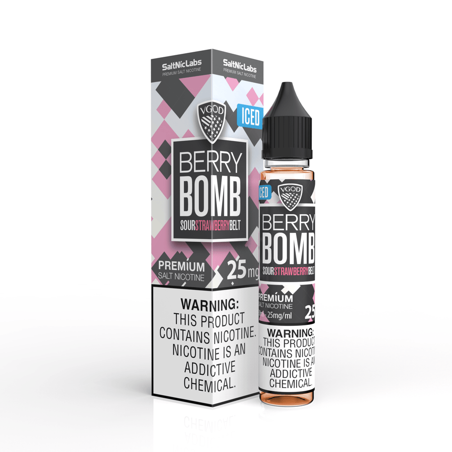 ICED BERRY BOMB Salt Nic BY VGOD 30ML - Ohm City Vapes