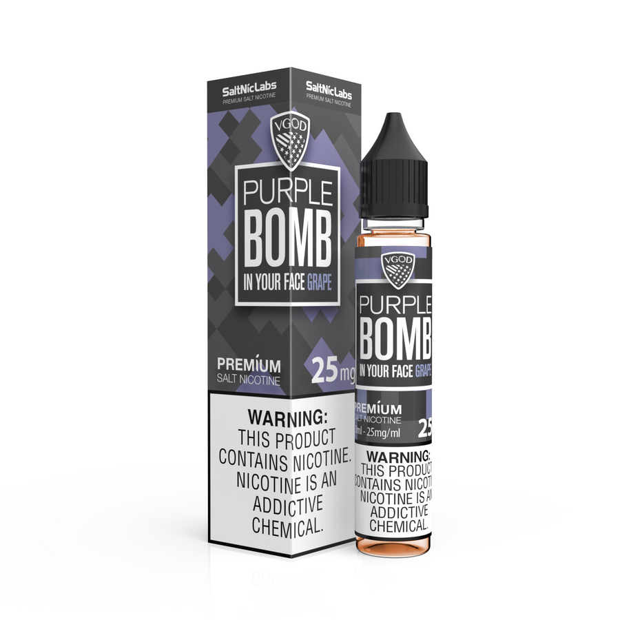 Purple Bomb Salt Nic BY VGOD 30ML - Ohm City Vapes