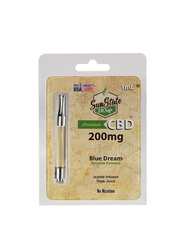Sunstate Hemp Pre-filled 1ml Cartridge 200mg Blue Dream - ESWSupply