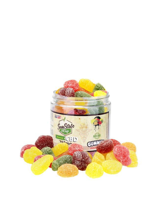 Sunstate Hemp Gummies Fruit Slices 1500mg - ESWSupply