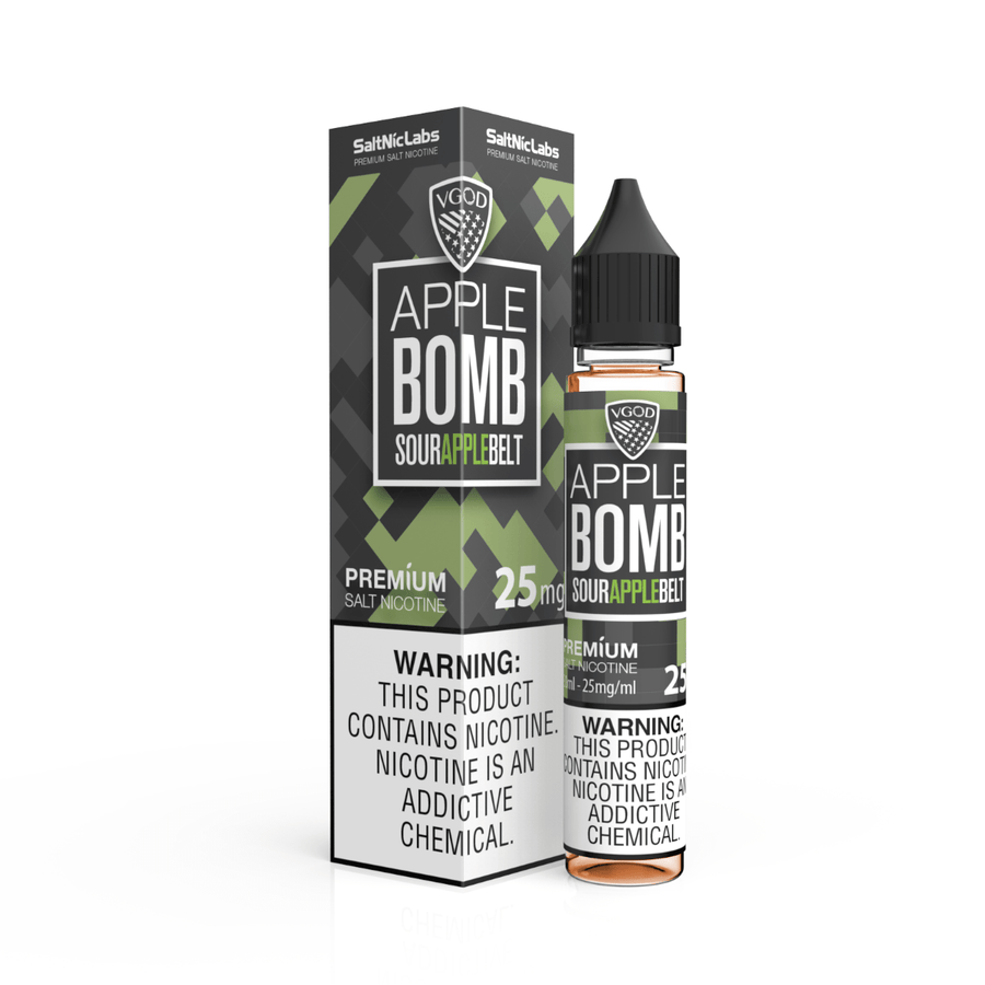 APPLE BOMB Salt Nic BY VGOD 30ML - Ohm City Vapes