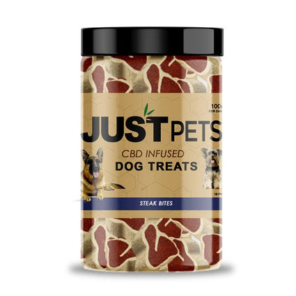 JUSTCBD Pet Treats Steak Bites - ESWSupply