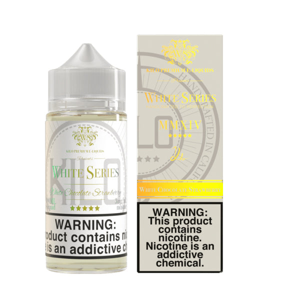 KILO WHITE SERIES: WHITE CHOCOLATE STRAWBERRY 100ML