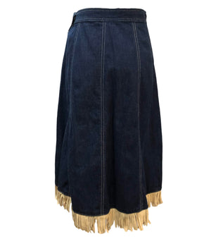 50s Deadstock Denim Studded Western Skirt Back 2 of 4