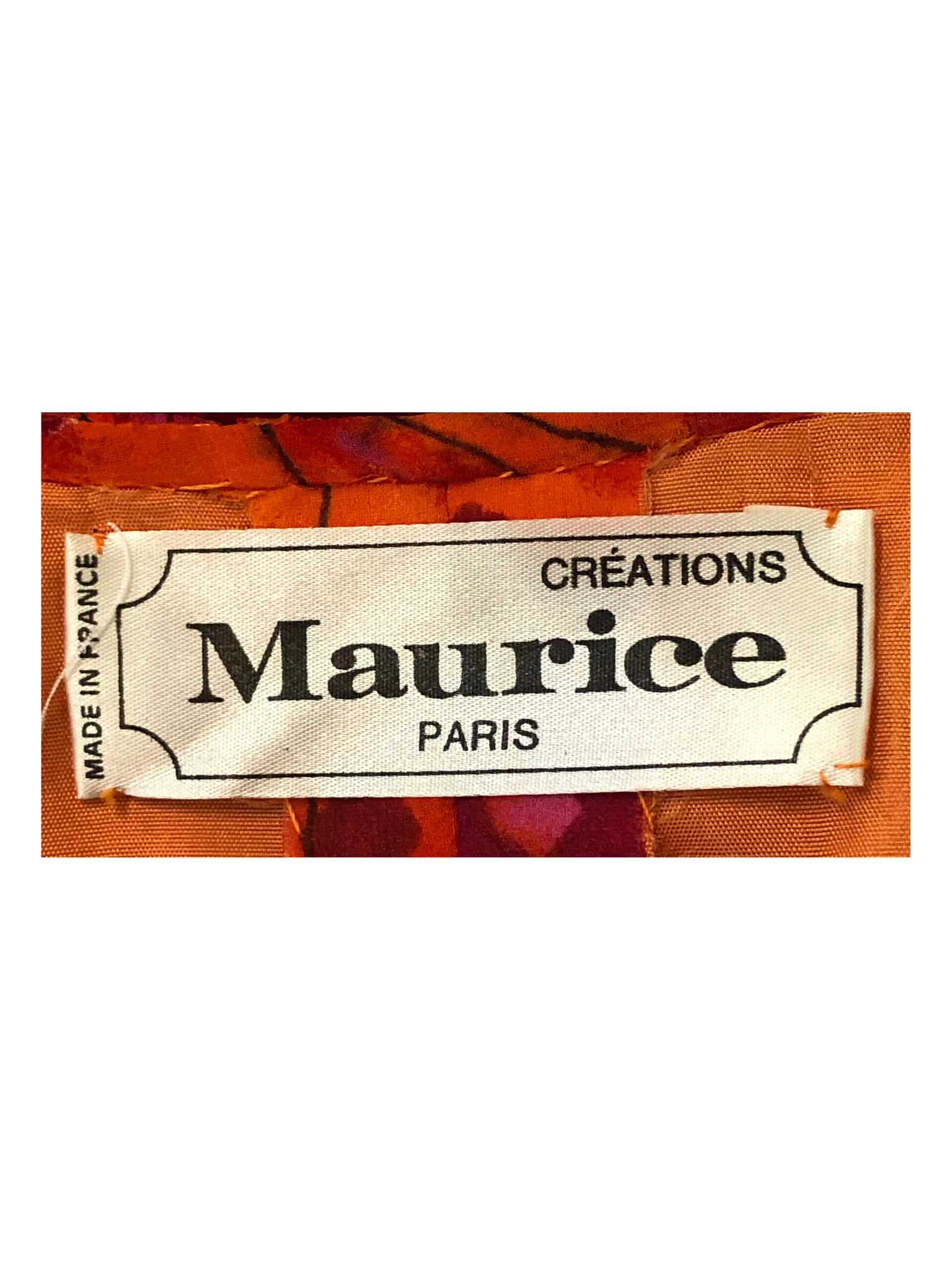 Maurice 60s Dress Purple and Orange Chiffon with Jeweled Ornament  LABEL 5 of 5