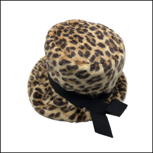 60s faux Fur Leopard Bucket Hat 1 OF 4
